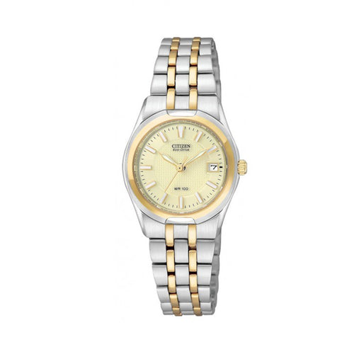 Citizen Ladies' Corso Eco- Drive Watch in Tow-Tone Stainless Steel -EW0944-51P