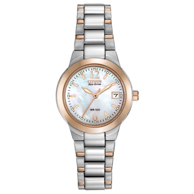 Citizen Chandler Ladies' Mother-of-Pearl Sport Watch in Two-Tone Stainless Steel - EW1676-52D