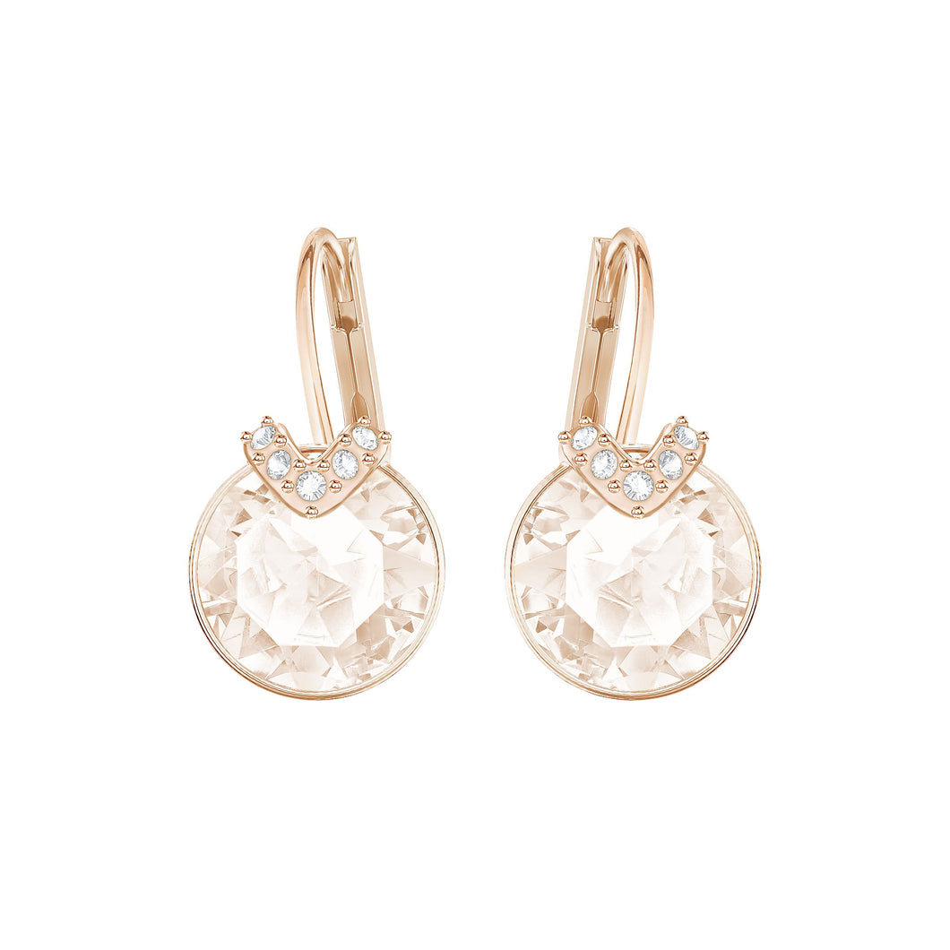 SWAROVSKI 'Bella' V-Shape Crystal Embellished Fashion Earrings in Rose-Gold Tone Plating - 5299318