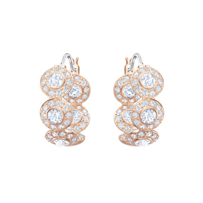SWAROVSKI 'Angelic' White Crystal Hoop Earrings in Rose-Gold Tone Plating - 5418271
