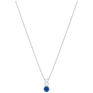 SWAROVSKI 'Attract Trilogy' Blue & White Crystal Pendant in Rhodium Plating -5416156