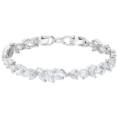SWAROVSKI 'Louison' White Marquise Crystal Bracelet in Rhodium Plating - 5419244