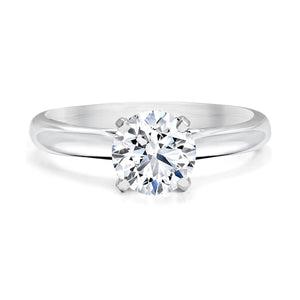 FOREVERMARK Black Label 1 ct. tw. Classic Round Brilliant Diamond Solitaire Engagement Ring in 18K White Gold - FMR00102/100BLRB