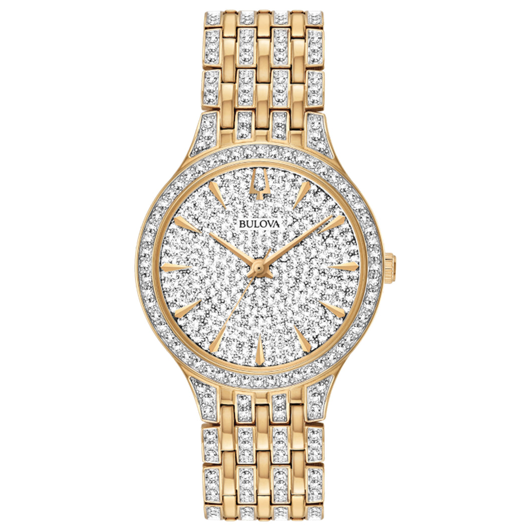 Bulova Ladies' Phantom Stainless Steel Watch with Swarovski Crystals on Dial and Band - 98L263
