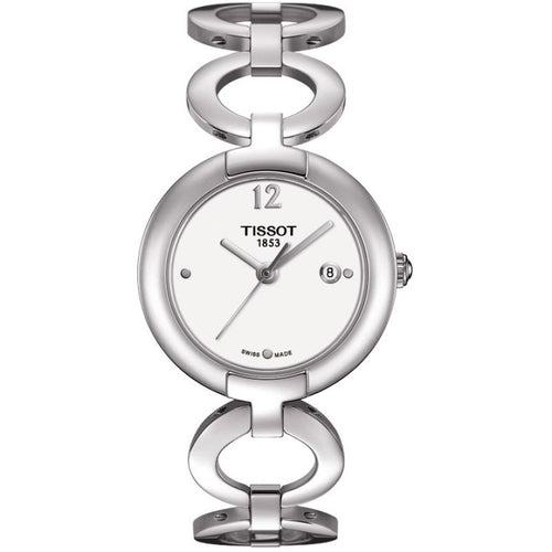 Tissot T-Lady Pinky Quartz 28MM Case Watch with White Dial in Stainless Steel - T0842101101700