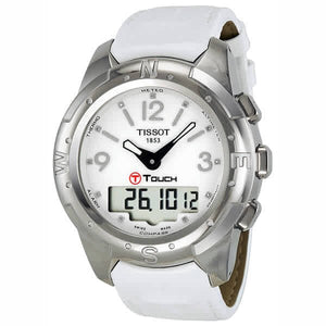 Tissot Ladies' T-Touch II 43MM Case Watch with White Diamond Accented Dial in Titanium - T0472204601600