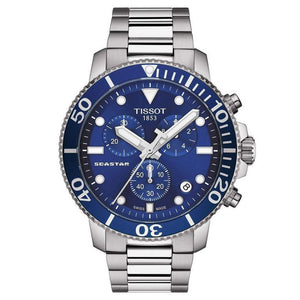 Tissot Seastar 1000 Chronograph 43MM Case Watch with Blue Dial in Stainless Steel -T0664171104700