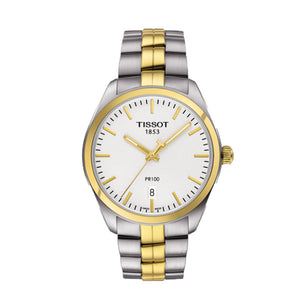 Tissot PR 100 39MM Case Watch with White Dial in Two-Tone Stainless Steel -T1014102203100