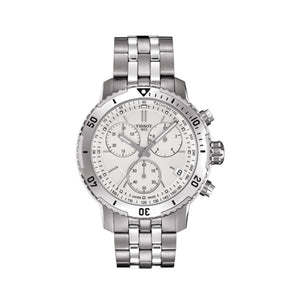 Tissot PRS 200 Chronograph 42MM Case Watch with Silver Dial in Stainless Steel  -T0674171103101