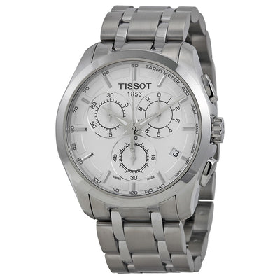 Tissot Couturier Chronograph 41MM Case Watch with White Dial in Stainless Steel  -T0356171103100