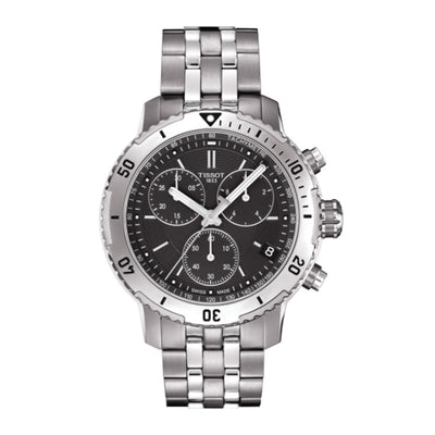 Tissot PRS 200 Chronograph 42MM Case Watch with Black Dial in Stainless Steel  -T0674171105101
