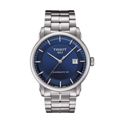 Tissot Luxury Powermatic 80 Automatic 41MM Case Watch with Navy Blue Dial in Stainless Steel  -T0864071104100