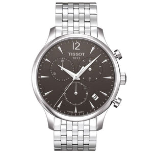 Tissot Tradition Chronograph 42MM Case Watch with Black Dial in Stainless Steel  -T0636171106700