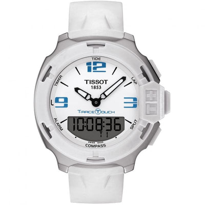 Tissot T-Race Touch Alarm Chronograph Watch with White Dial & Rubber Strap  -T0814201701701