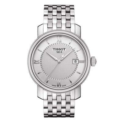 Tissot Bridgeport Quartz 40MM Case Watch with Silver Dial in Stainless Steel  -T0974101103800