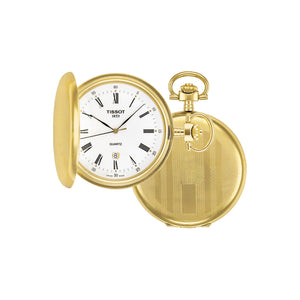 Tissot Savonnette Pocket 48.5MM Case Watch with White Dial in Golden Brass Case -T83455313