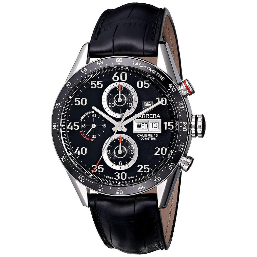 Tag Heuer Carrera Calibre 16 Chronograph 43MM Case Watch with Tachymeter Bezel - CV2A10FC6235