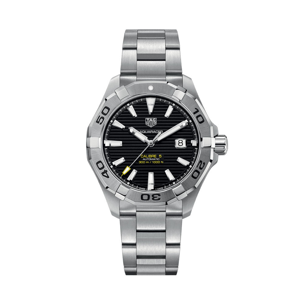 Tag Heuer Aquaracer Calibre 5 43MM Case Watch in Polished & Brushed Stainless Steel  - WAY2010BA0927