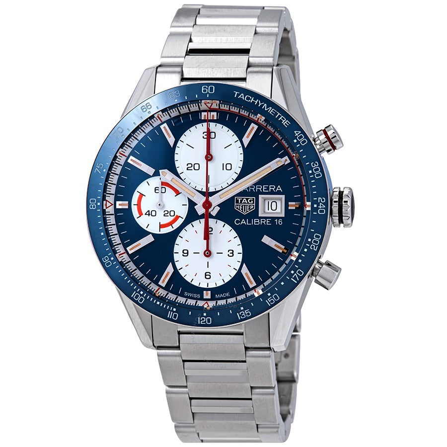 Tag Heuer Carrera Calibre 16 Automatic 41MM Case Watch in Polished Ceramic Tachymeter Bezel  -CV201ARBA0715