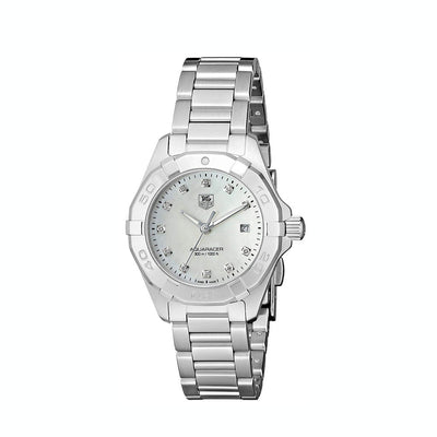 Tag Heuer Aquaracer Quartz 27MM Case Watch with Diamond Accented Mother of Pearl Dial - WAY1413BA0920