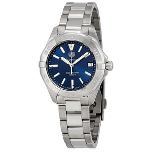 Tag Heuer Aquaracer Quartz 32MM Case Watch with Blue Dial in Brushed & Polished Stainless Steel - WBD1312BA0740