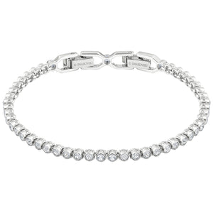 SWAROVSKI 'Emily' White Crystal Tennis Bracelet in Rhodium Plating - 1808960