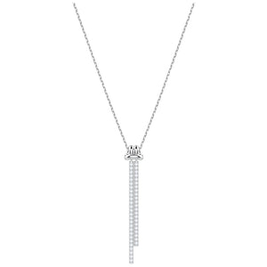 SWAROVSKI 'Lifelong Bow' Pavé Y-Pendant Necklace in Rhodium Plating - 5408435