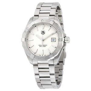 Tag Heuer Aquaracer Quartz 40.5MM Case White Dial Watch in Polished & Brushed Stainless Steel  - WAY1111BA0910