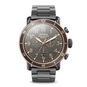 Shinola The Runwell Sport Chronograph 48mm Mens Stainless Steel Watch - S0120089903