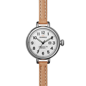 Shinola The Birdy 34mm Stainless Steel And Tan Double Leather Ladies Watch - S0110000234