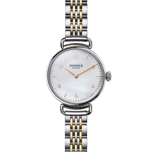 Shinola The Canfield 32mm Two-Tone Mother of Pearl Ladies Watch - S0120018678