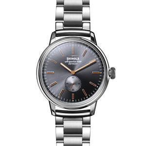 Shinola The Bedrock Grey Dial Stainless Steel 42mm Men's Watch - S0120090078