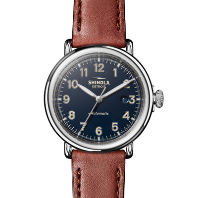 Shinola The Runwell Automatic 45mm Midnight Blue Dial Mens Watch - S0120141492