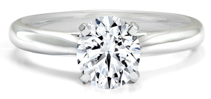 FOREVERMARK Black Label 1/2 ct. tw. Round Brilliant Diamond Solitaire Engagement Ring in 18K White Gold - FMR00102/50BLRB