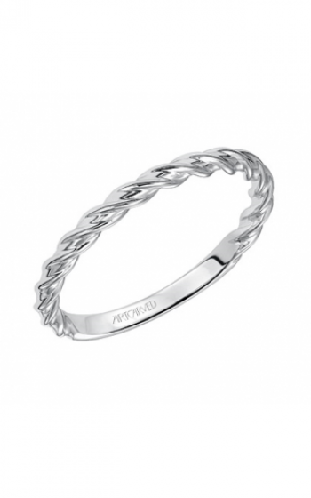 ArtCarved Twisted Wedding Band in 14K White Gold- 31-V460W-L