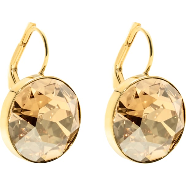 SWAROVSKI 'Bella' Brown Bezel Crystal Earrings in Gold-Tone Plating - 901640
