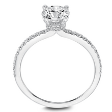 ArtCarved 1/3 ct. tw. Round Diamond Semi-Mount Engagement Ring with Hidden Halo in 14K White Gold - 31-V544ERW-E.00