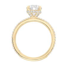 ArtCarved 1/3 ct. tw. Round Diamond Semi-Mount Engagement Ring with Hidden Halo in 14K Yellow Gold - 31-V820GRY
