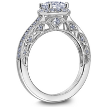 Scott Kay Heaven's Gates Collection Round Center Semi-Mount Engagement Ring with 1/2 ct. tw. Diamond Arches with Milgrain Detailing in 14K White Gold - 31-SK5664DRW
