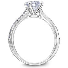 Scott Kay Luminaire Collection Round Center Semi-Mount Engagement Ring with 1/10 ct. tw. Diamond Prong Set Band in 14K White Gold - 31-SK8377EVW