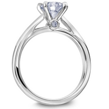 Scott Kay Luminaire Collection Round Solitaire Style Semi-Mount Engagement Ring with .03 ct. tw. Round Brilliant Bezel Set Diamond Undercarriage in 14K White Gold - 31-SK8103EV