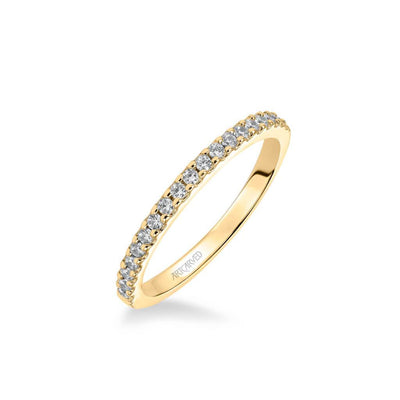 ArtCarved 1/2 ct. tw. Classic Diamond Wedding Band in 14K Yellow Gold - 31-V323Y-L