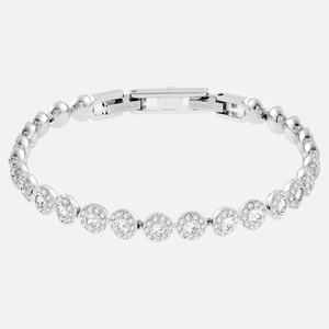 SWAROVSKI 'Angelic' White Crystal Halo Bracelet in Rhodium Plating - 5071173