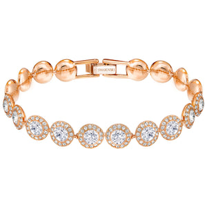 SWAROVSKI 'Angelic' White Crystal Bracelet with Rose-Gold Tone Plating - 5240513