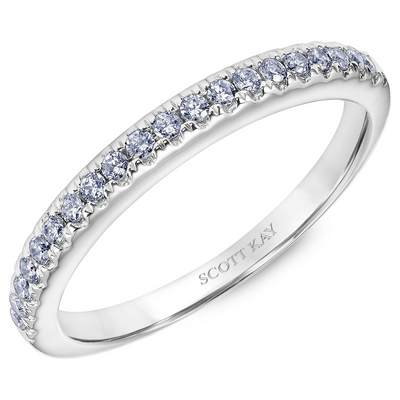 Scott Kay Luminaire Collection 1/5 ct. tw. Diamond Prong-Set Wedding Band in 14K White Gold - 31-SK5086W