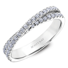 Scott Kay Luminaire Collection 1/2 ct. tw. Diamond Crossover Wedding Band in 14K White Gold - 31-SK5105W