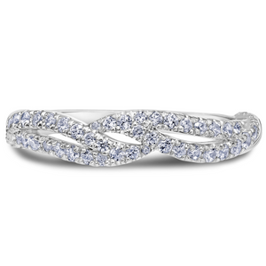 Scott Kay Namaste Collection 1/2 ct. tw. Diamond Open-Shank Wedding Band in 14K White Gold - 31-SK5632W