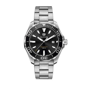 Tag Heuer Aquaracer Calibre 5 47MM Case Watch with Ceramic Bezel in Brushed Stainless Steel  -WAY201ABA0927