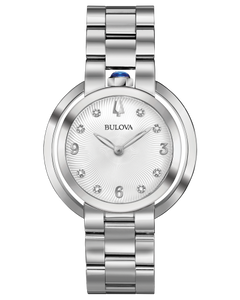 Bulova Ladies'  Rubaujat Watch in Silver Stainless Steel with Bezel Watch Dial - 96P184