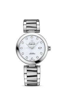 OMEGA Stainless Steel Ladies De Ville Ladymatic Quartz Mother of Pearl Watch